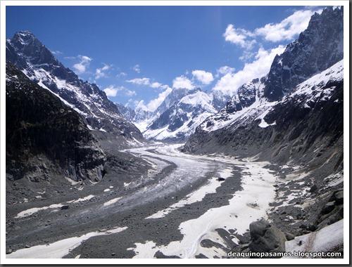 Descenso del Valle Blanco esquiando (Chamonix, Alpes) 5425