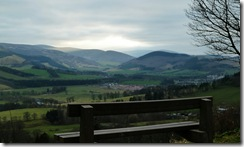 view of Peebles from glentress