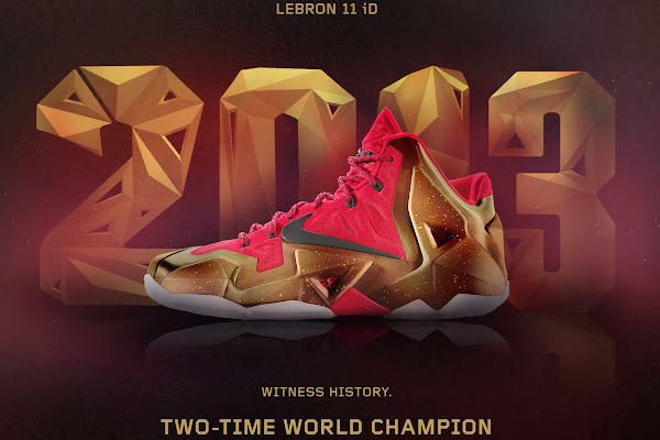 A Decade of Moments  NIKEiD LeBron XI 8220TwoTime Champ8221