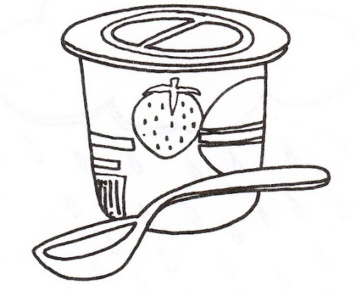 Free Coloring Pages Of Yogurt Colorear Yogurt Coloring Page