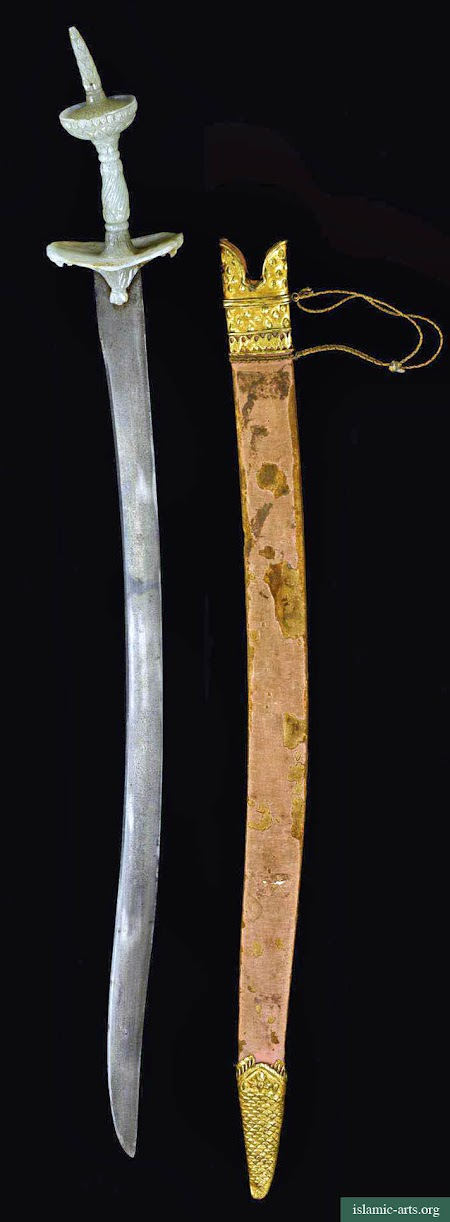 A FINE AND EXCEPTIONALLY RARE JADE-HILTED TALWAR, INDIA,