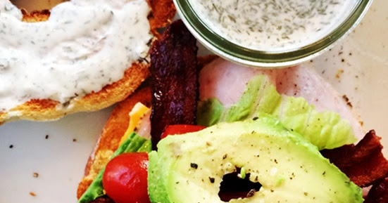 Turkey, Bacon, & Avocado Club with Creamy Dill Sauce ...