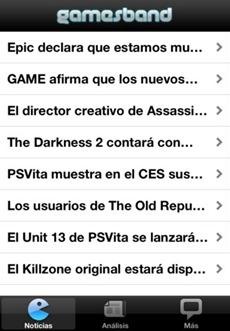 Gamesband para iOS