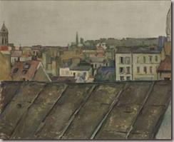 """Paul Czanne, """"Les Toits de Paris"""", 1881-1882"""