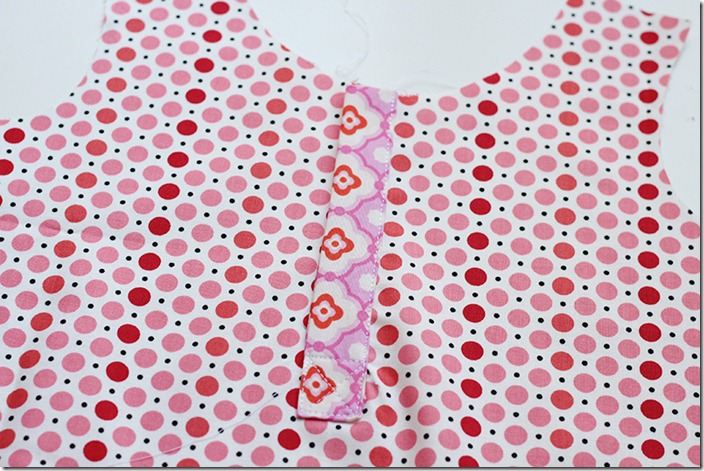 Top Stitch top placket