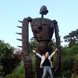 matt and the laputa robot in Mitaka, Tokyo, Japan