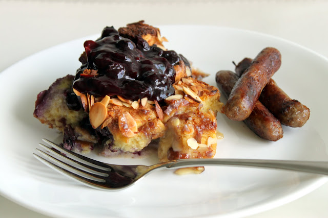 Blueberry-Mascarpone {Overnight} French Toast Bake