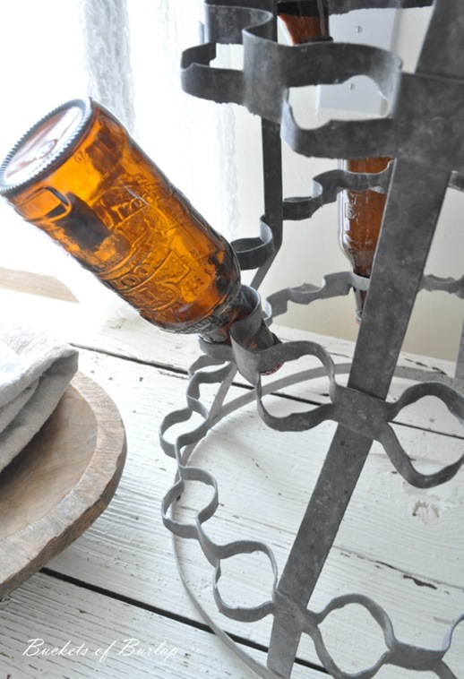 breakfast nook french bottle rack 2