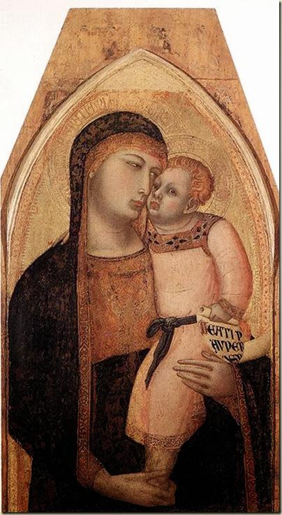 Ambrosio Lorenzetti, Vierge à l'enfant