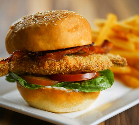 Charly T - Jumbo Schnitzel Burger escalope-stylecoated in bread crumbs, fried till golden brown with fries 112 Katong Nomu Sg