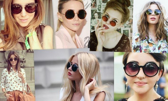 como usar oculos redondos moda