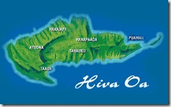 Mappa di Hiva-Oa
