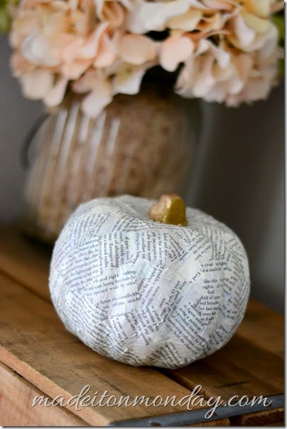 book page pumpkin from dollar tree