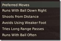 Preferred moves of Pedro Lima