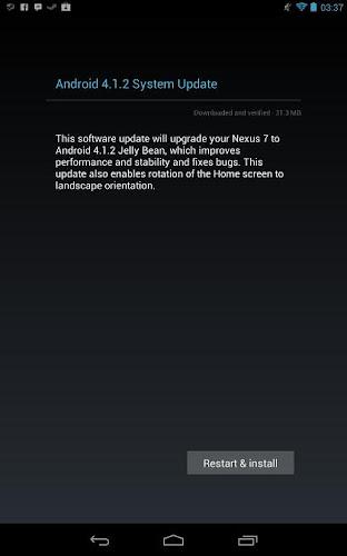Android 4.1.2 su Nexus 7