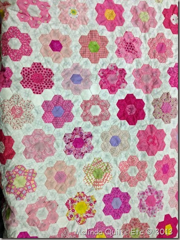 1113 Rosemarie's Pink Quilt Top