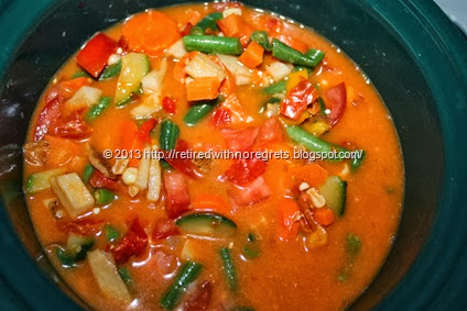 Vegetable Soup - slow cooker