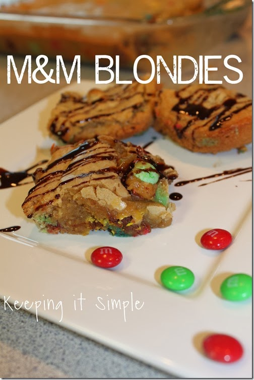 #shop M&M blondies #BakingIdeas