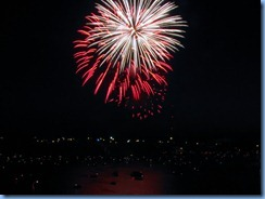 8227 Ontario Kenora Best Western Lakeside Inn on Lake of the Woods - Canada Day fireworks from our room