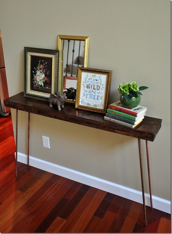 How to build a console table tutorial, copper legs