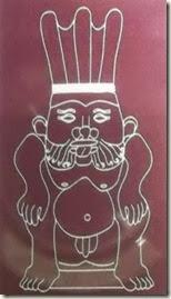 Representación del  ídolo de La Fonteta - Guardamar