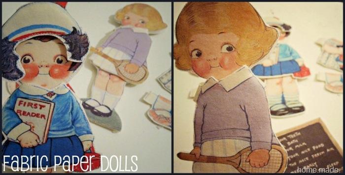 fabric paper dolls