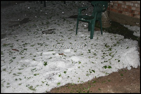 Hail in Texas March 2012