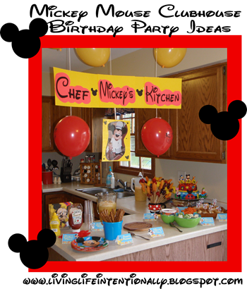 Disney Party Theme with Mickey Mouse Clubhouse games, food, decorations and more #disney #mickeymouse