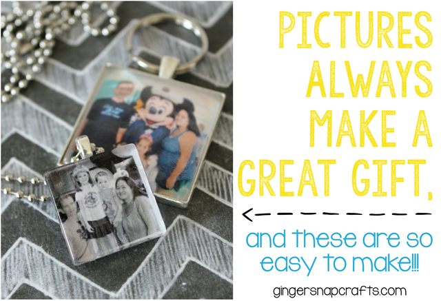 Pictures Always Make a Great Gift ~ easy photo gift tutorial at GingerSnapCrafts.com #photo #giftidea #tutorial