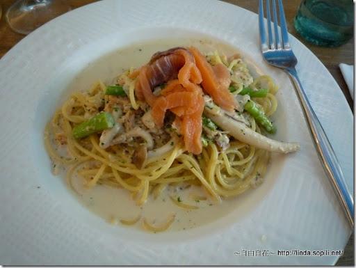 螺絲瑪莉-奶油煙燻鮭魚義大利麵