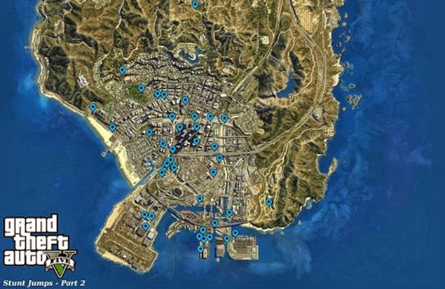 Grand Theft Auto V  - Stunt Jumps Locations Guide 03b
