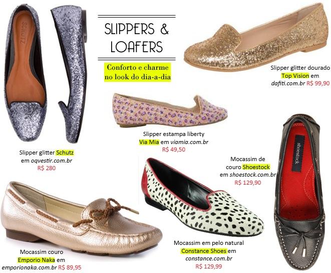 Loafer e Slipper: Novo sapato Mocassim. 6 sugestões  de compras.