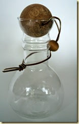 vintage Pyrex carafe with cork ball