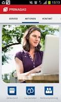 Screenshot of PRIMAGAS Kunden-App
