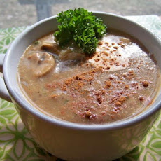 Creamy Spiced Mushroom Soup (Low Fat and Vegan)