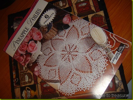 pineapple doilies by leisure art