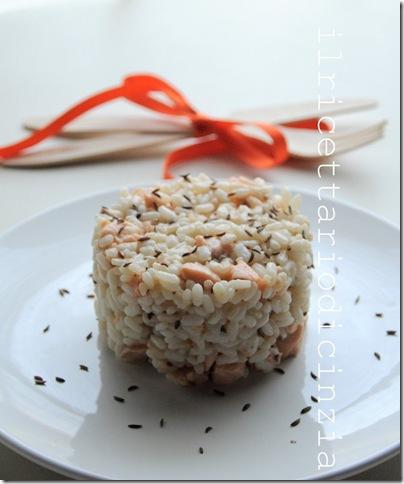 risotto al salmone e semi di cumino