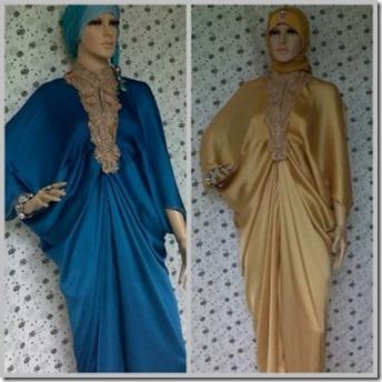 Busana Gamis Hijab Lebaran Hari Raya Trend Gaya Busana