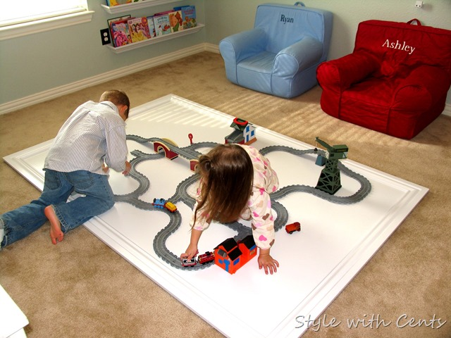 Creating an Inexpensive Playroom from Style with Cents www.stylewithcents.blogspot.com 8