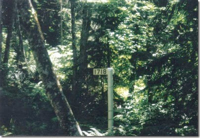 Iron Goat Trail Milepost 1718 in 2000