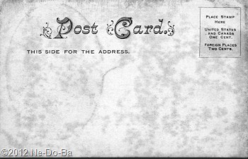Dr. Lee-o-netto - Post Card (reverse)