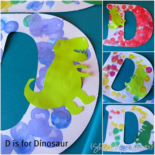 D is for Dots and Dinosaur