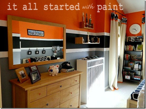 Teen Room Orange Gray Black 1