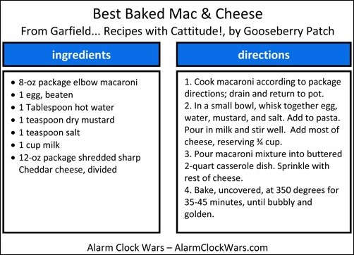 best baked macaroni and cheese recipe card