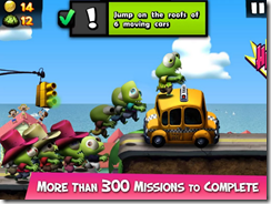 أكثر من 300 مهمة مختلفة يمكنك تنفيذها فى لعبة تسونامى الزومبى Zombie Tsunami
