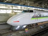 """A Shinkansen """"bullet"""" train"""