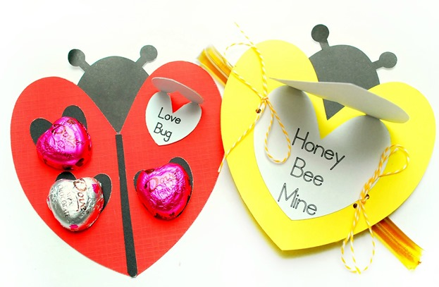Ladybug and Bee Valentines - The Silly Pearl