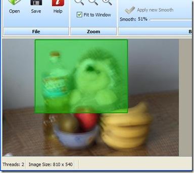 SmartDeblur rimuovere sfocatura da una precisa regione della foto