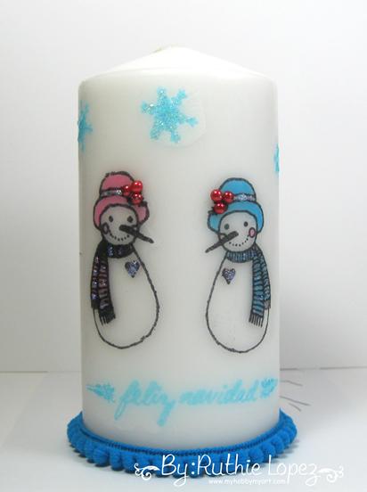 Color Paws - Navidad -Vela decorada - Ruthie Lopez