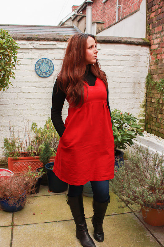Su Sews So So Red Washi Dress 2